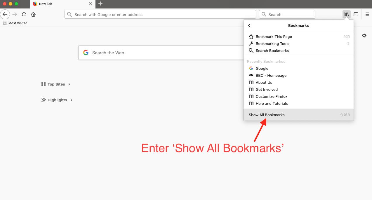 How can I transfer my Firefox Bookmarks to Aloha | Aloha Lite